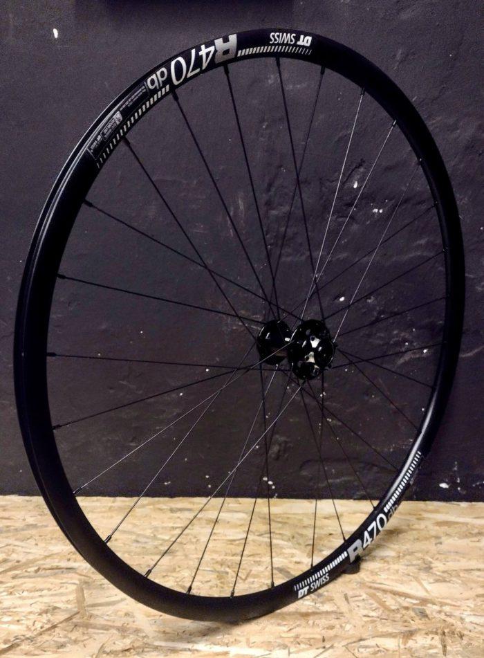 DT Swiss R470 Novatec 791/792 Pillar Przednie koło Zestaw lekkich czarnych aluminiowych kół 28 do roweru gravelowego