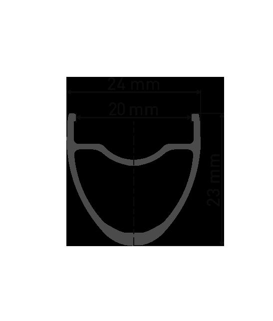 """Przekrój aluminiowej obręczy DT Swiss R470 29"""" / 700C do koła gravel DT Swiss R470 Novatec 791/792 Pillar Kraków Lublin"""