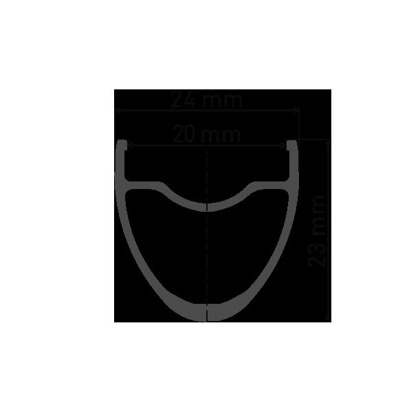 """Przekrój obręczy DT Swiss R470 29"""" / 700C do koła gravel Katowice Chorzów Tychy Gliwice Dąbrowa Górnicza Zabrze Ruda Śląska"""