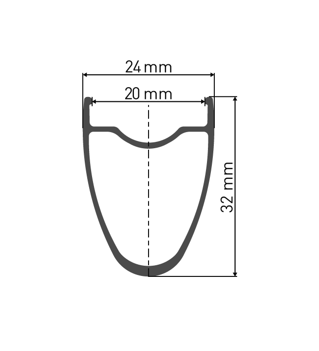 """Przekrój aluminiowej obręczy DT Swiss RR521 29"""" / 700C do koła endurance DT Swiss RR521 DT Swiss 350 StraightPull Pillar"""