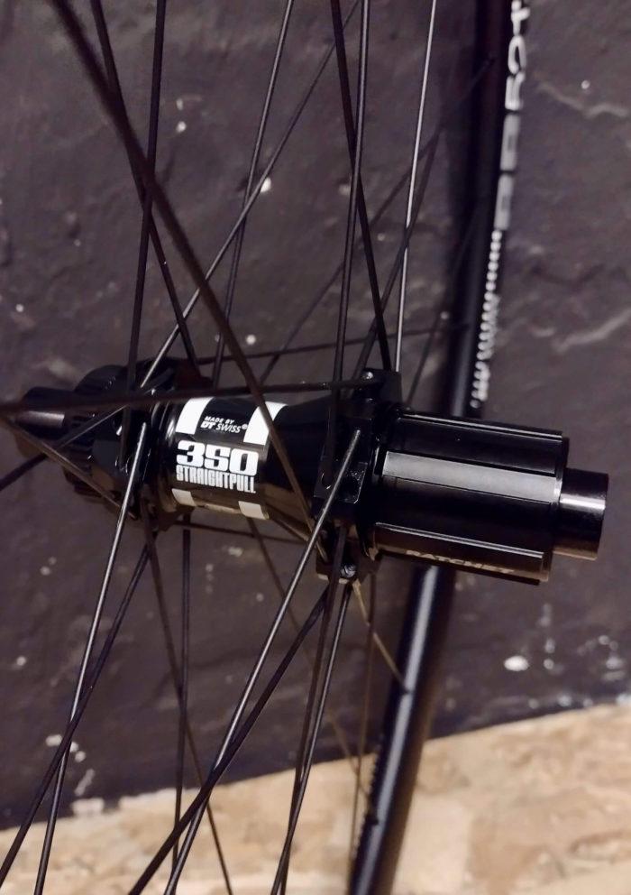 DT Swiss 350 StraightPull rear hub for Centerlock disc in 28 endurance aluminium road wheel on DT Swiss RR521 rim