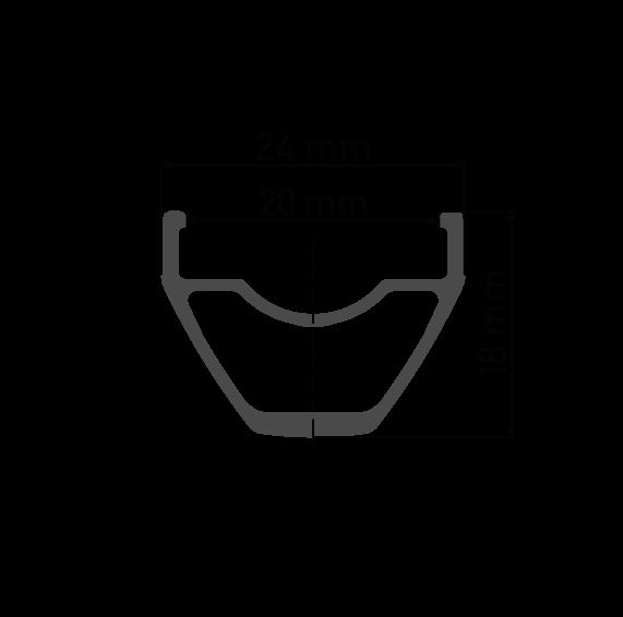 """Przekrój aluminiowej obręczy DT Swiss X 392 29"""" / 700C do koła gravel DT Swiss X392 Novatec 791/792 Pillar Lublin Tarnów"""