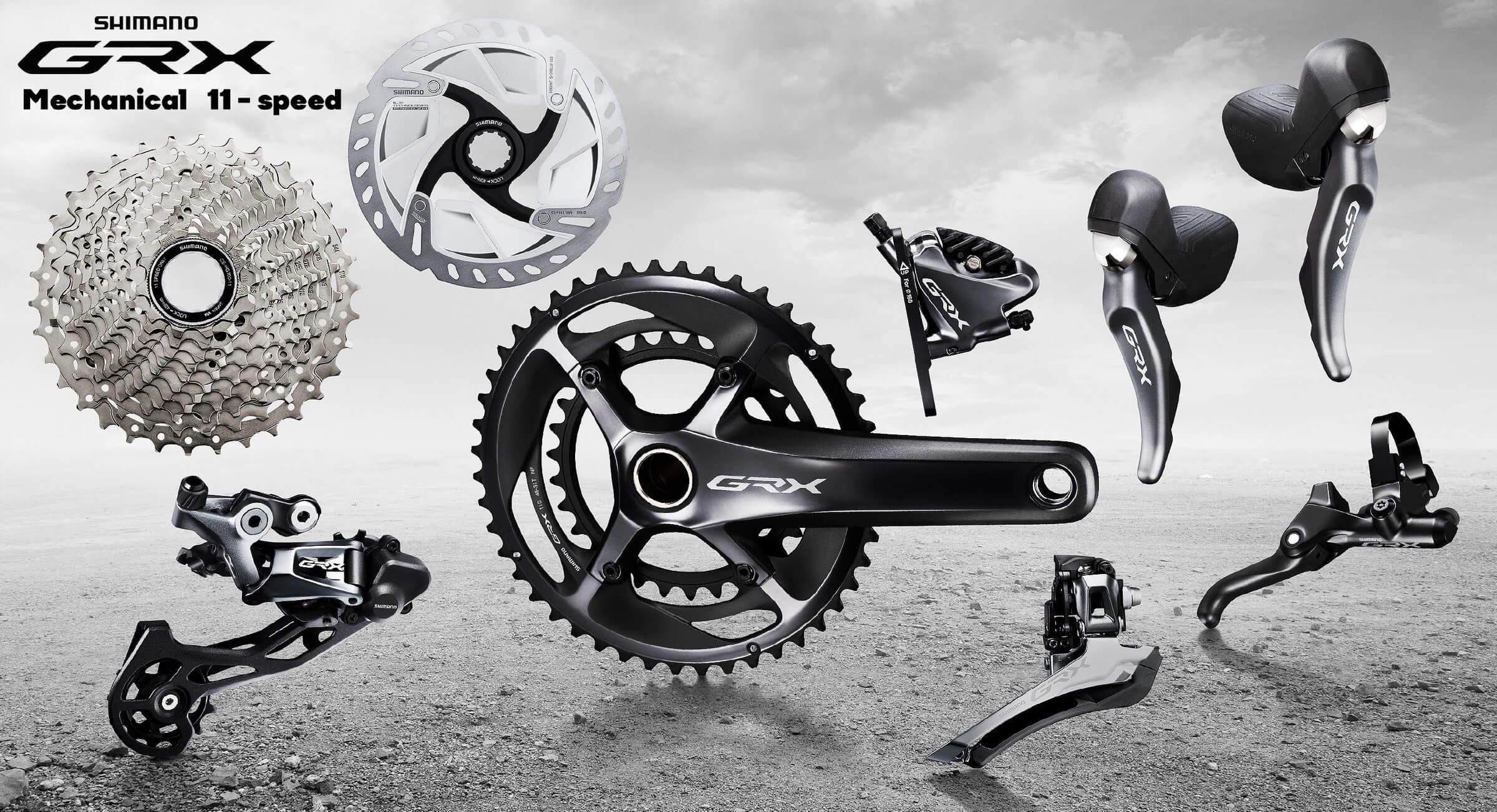 Shimano GRX - 1x11, 2x11, 2x10 Dedicated group for Gravel bikes