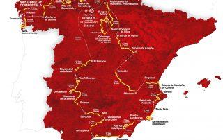 Vuelta a Espana 2021 Mapa i trasa wyścigu z podziałem na 21 etapów które odbywać się będą od 14 sierpnia do 5 września